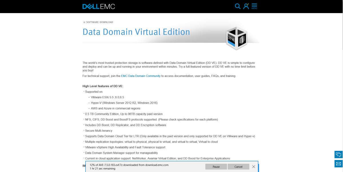 How to: Dell EMC Data Domain Virtual Edition Install on ESXi