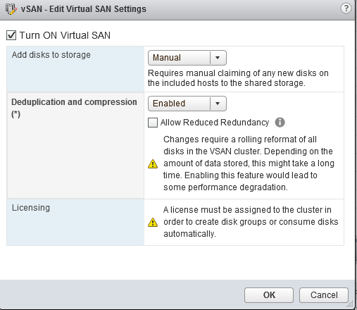 How to: Enabling Deduplication and Compression in vSAN
