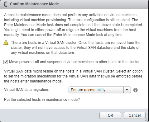 Maintenance Mode within vSAN