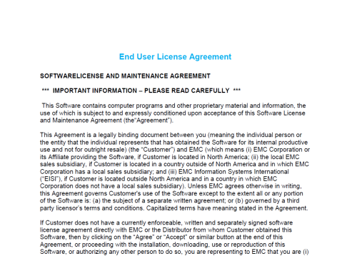 DDOS End User Agreement