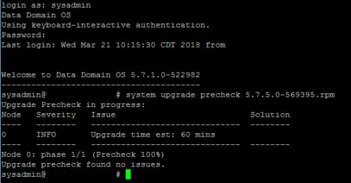 DDOS Upgrade Pre-Check 3