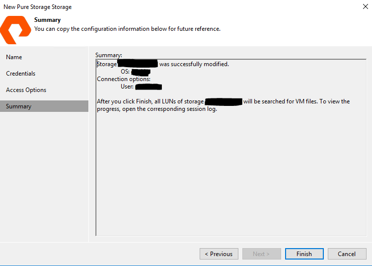 How to: Part Two – Configuring PureStorage Plugin for Veeam