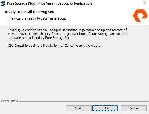 How to: Part One – Installing PureStorage Plugin for Veeam